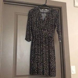 Theia Faux Wrap Knit Dress!
